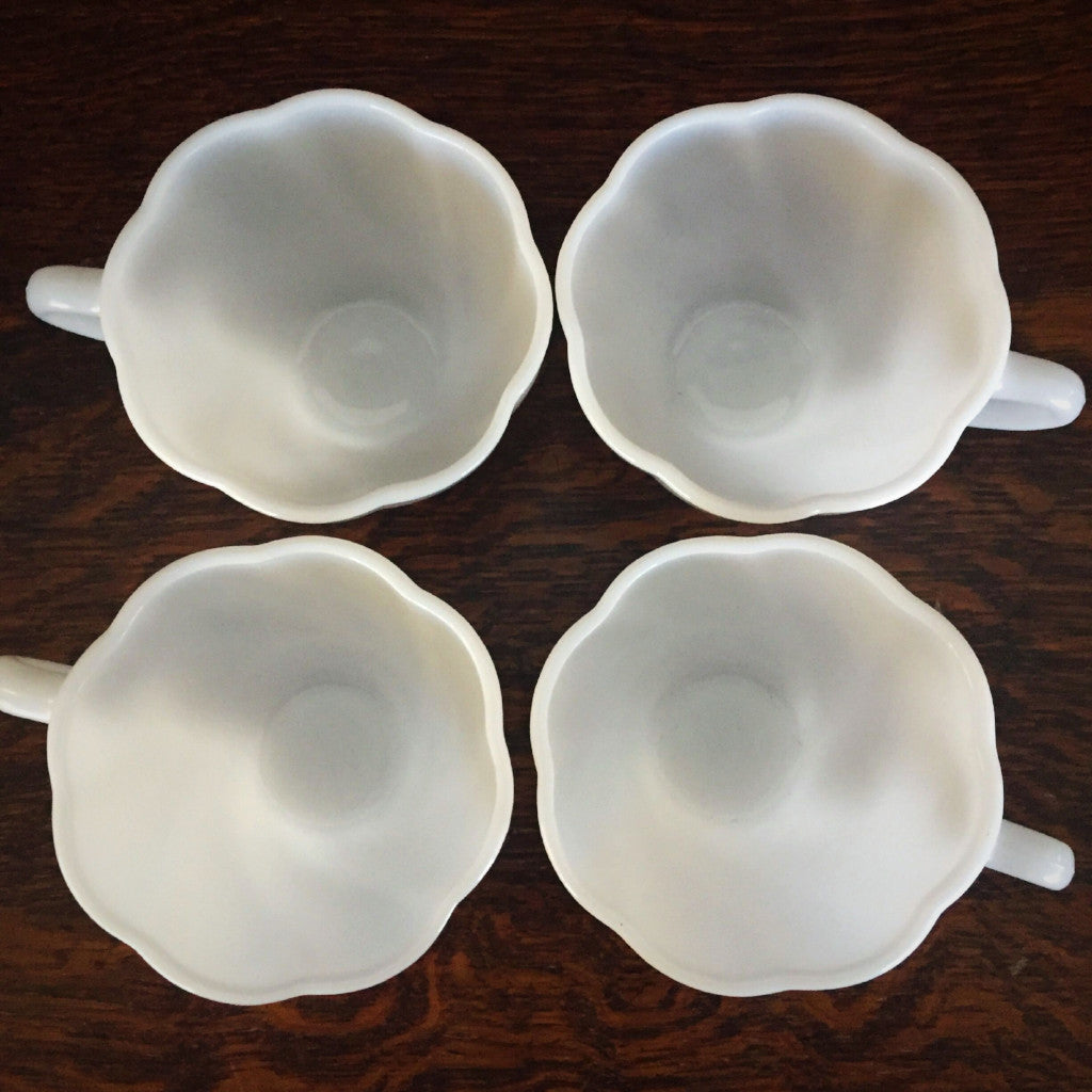 Milk Glass Cups