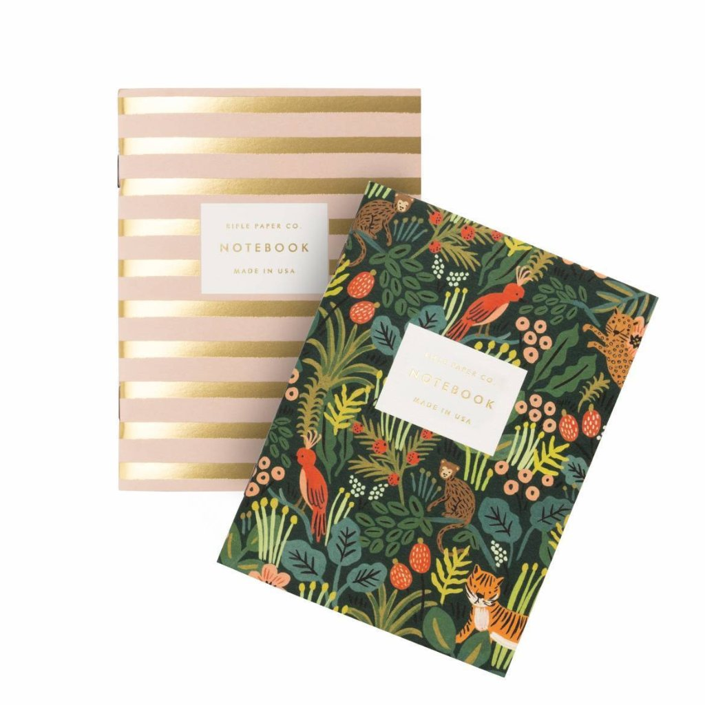 Jungle & Stripe Pair of Pocket Notebooks