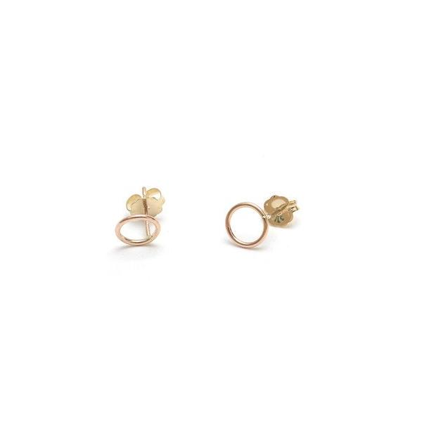 Mini Circle Post Earrings