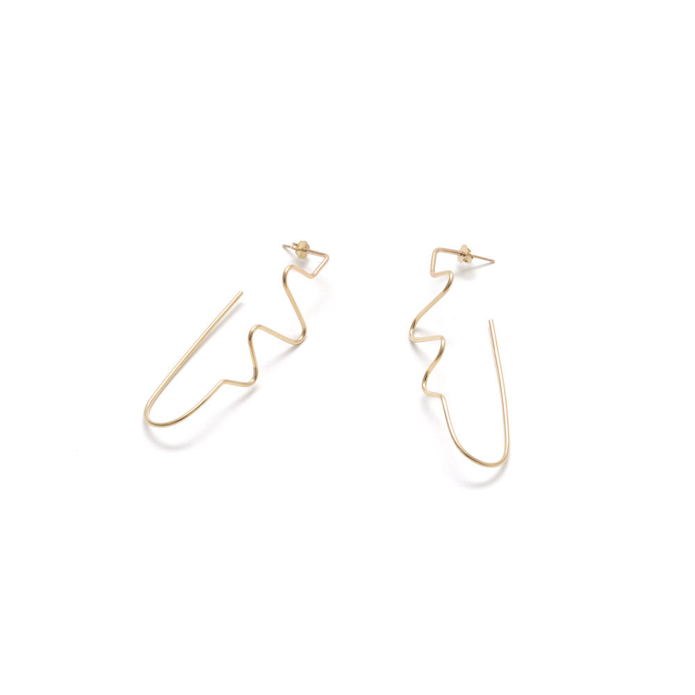 Gold Quantum 5 Earrings