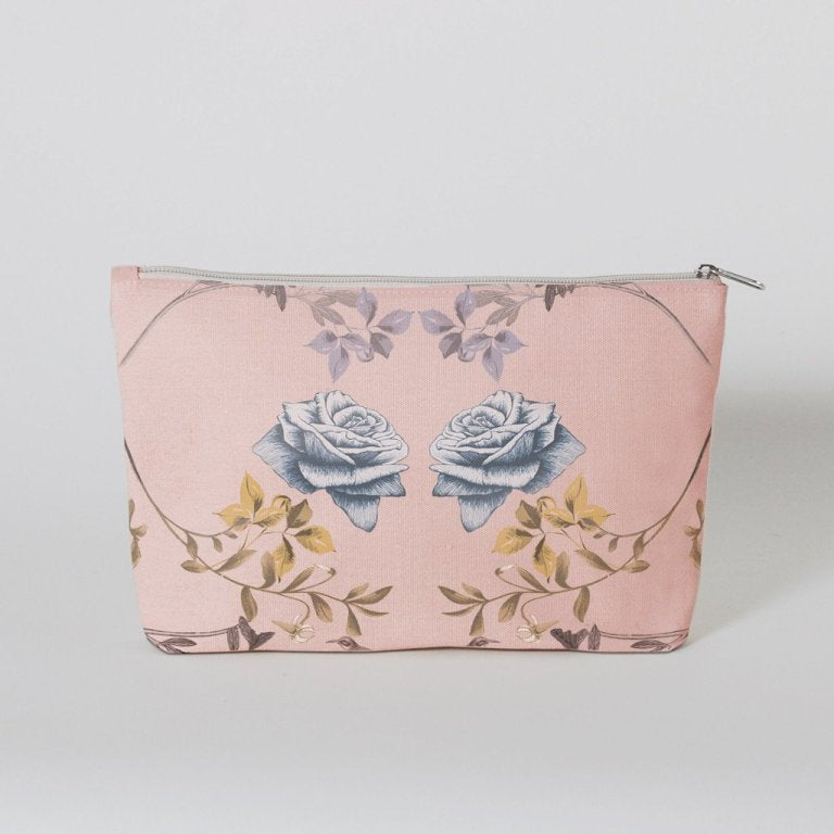 Rabbit & Roses Canvas Pouch