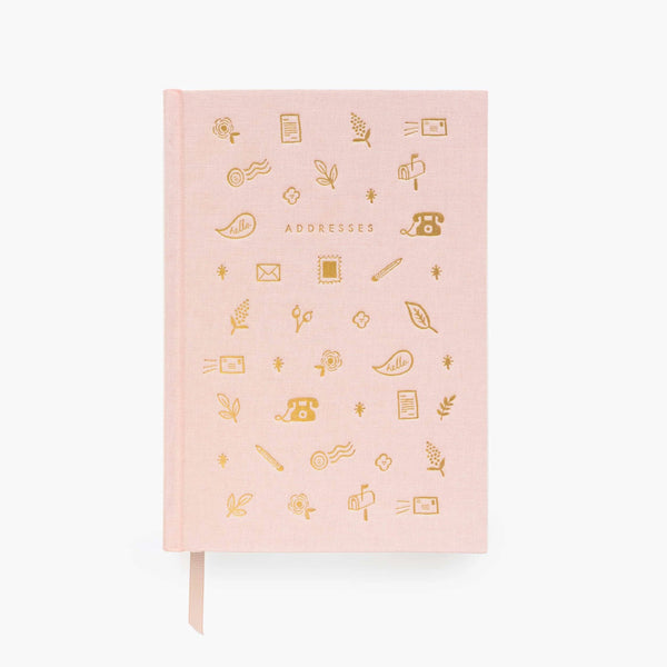 Pink & Gold Address Book