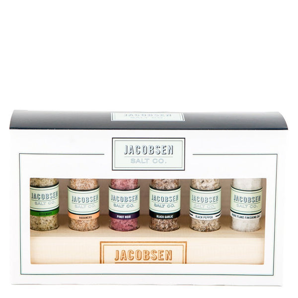 Jacobsen's Salt Sampler in Wooden Stand