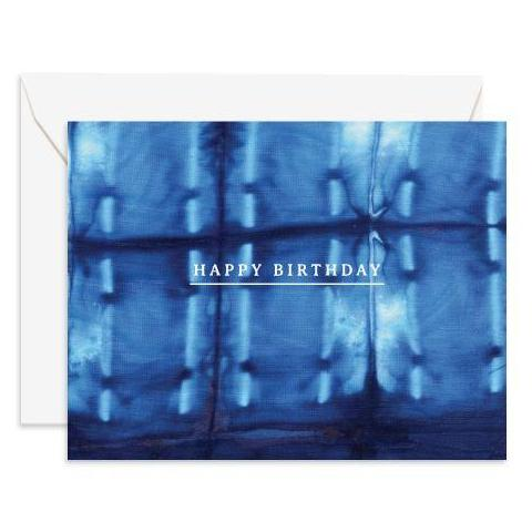 Shibori Birthday Card