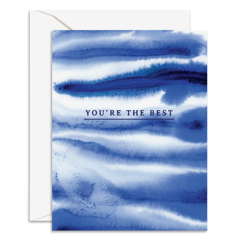 You're the Best Shibori Card By Daydream