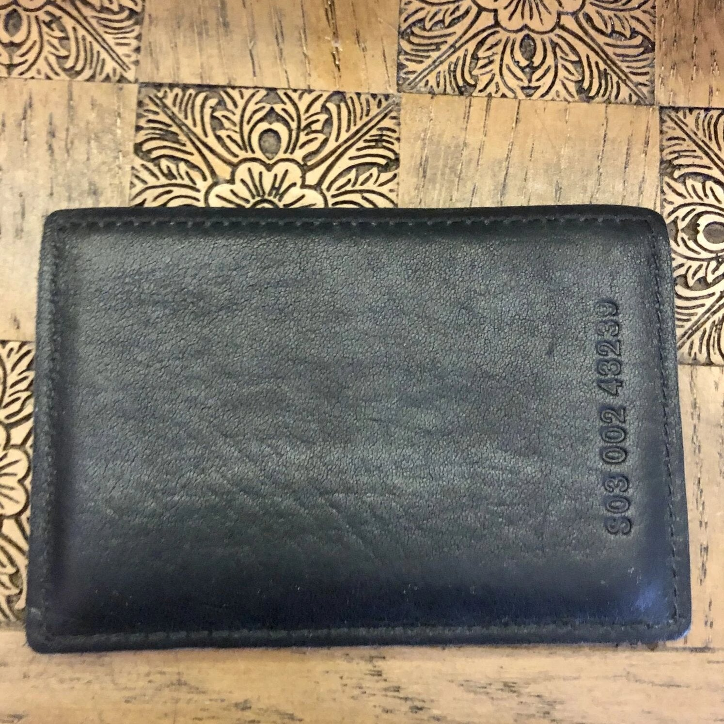 Shinola Black Leather Card Case