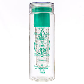 """Drink Your Effing Water!"" AquaMotiv Inspirational Quote Water Bottle with Tracker (Teal)"