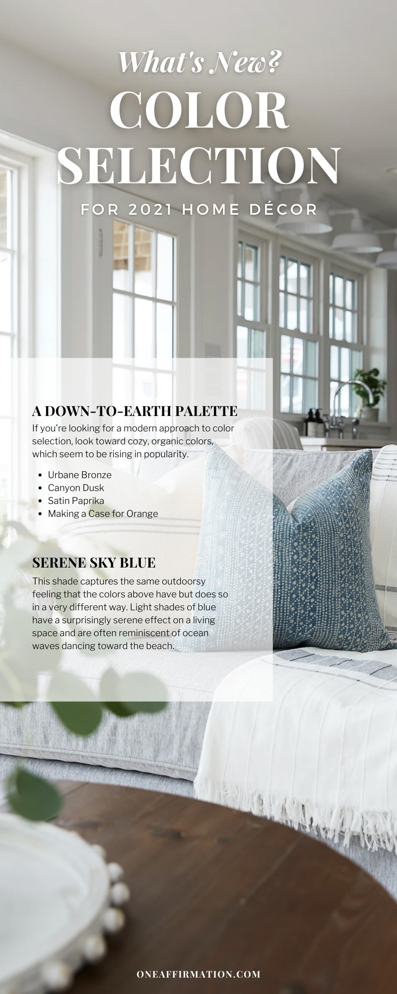 What's New? Color Selection for 2021 Home Décor