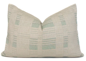Chiang Mai Beige and Green Pillow Cover | No9
