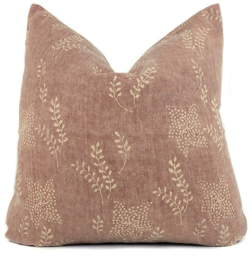 Vintage Rust Floral Pillow Cover