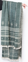 Indian Wool Throw in Slate