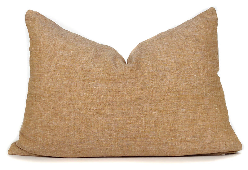 Amber Pillow Cover | Italian Linen | Lumbar | 14x20 | No6000