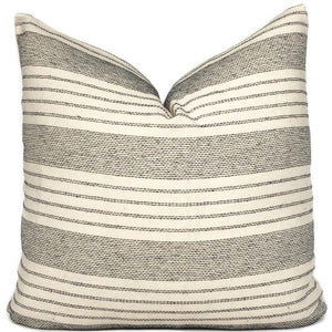 Chiang Mai Black and Cream Woven Pillow Cover