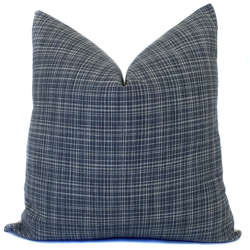 Bowood Tweed Designer Pillow | Gunmetal