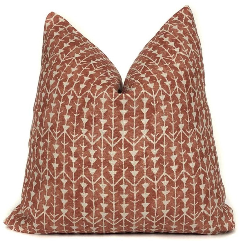 Carolina Irving Amazon Designer Pillow Cover in Burnt Orange | No10