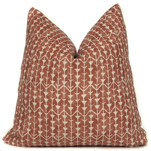 Amazon in Burnt Orange Designer Pillow Cover