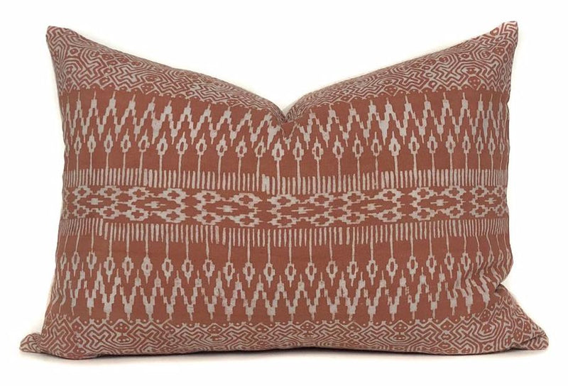 Rust Batik Lumbar Pillow Cover | No4092