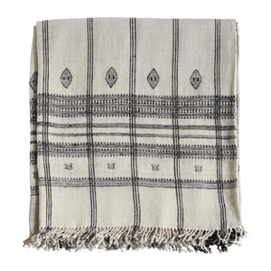 Indian Wool Throw | Cream