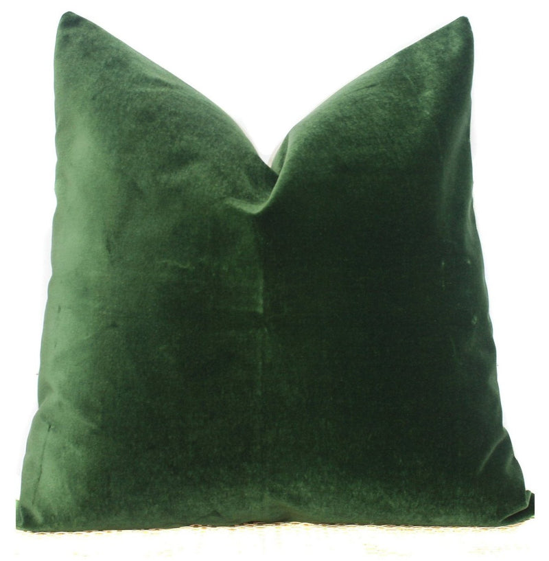 Green Velvet Pillow | 26x26 | No4002