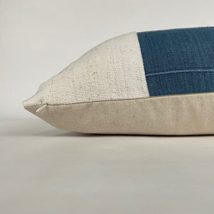 Vintage Blue and Cream Mudcloth Designer Pillow Cover |  NoRTVBM