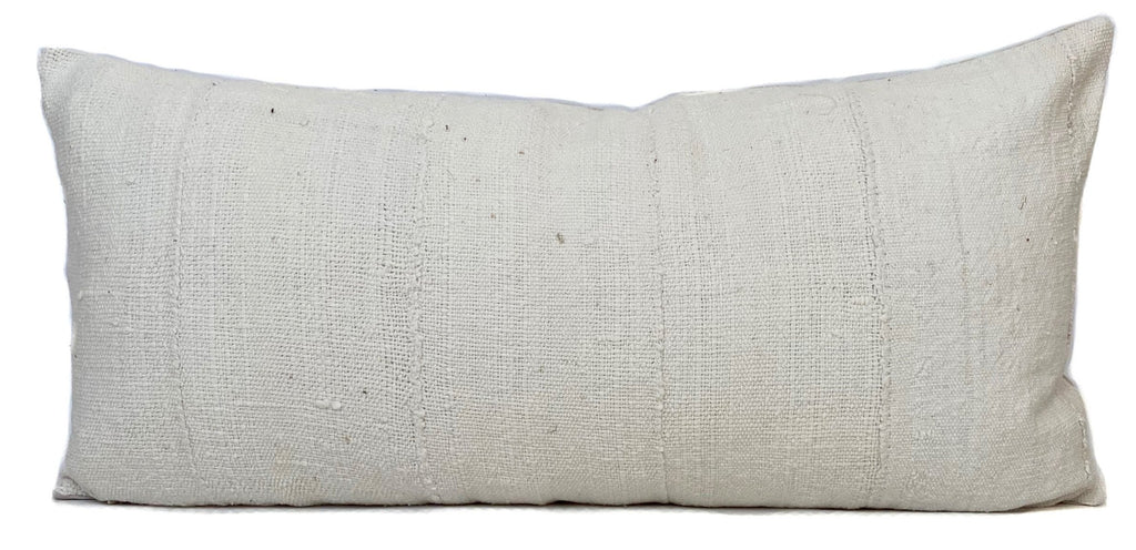 Mudcloth Pillow Cover | Cream | 12x24 | No485