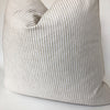White and Beige Ticking Stripe Pillow Cover | No8022