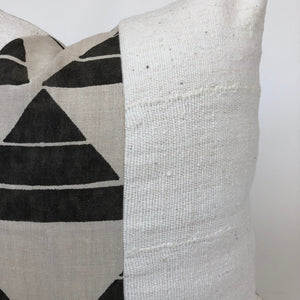 Uroko Ink + Cream Mudcloth Pillow Cover | Designer Pillow | NoZFUIM