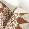 Embroidered Rust Designer Pillow Cover | NoRE1