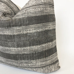 Grey Boho Designer Pillow Cover | 100% Belgian Linen | No6001