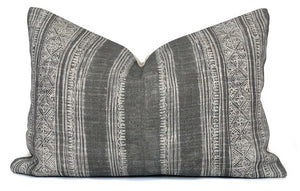 Amber Interiors Hunan Designer Pillow Cover | Ashen