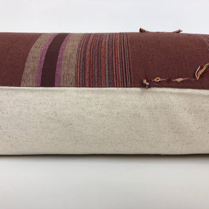 Chiang Mai Lumbar Pillow Cover | Mauve | 14x36 | No4068xx