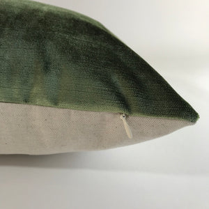 Olive Green Velvet Pillow Cover | No454x