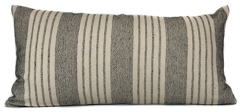 Chiang Mai Black and Cream Woven Pillow Cover | No5060