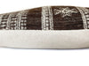 Indian Wool Pillow Cover | Brown + Cream | NoIWBF