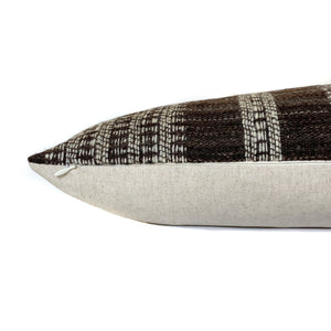 Indian Wool Pillow Cover | Brown + Cream