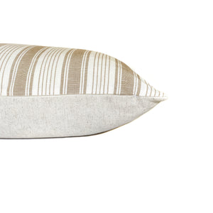Ojai Stripe Designer Pillow Cover | Neutral + White | FSOSN