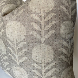 Zinnia Designer Pillow Cover in Sand