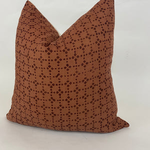 Anjoli Dot Designer Pillow Cover | Cinnamon + Brown