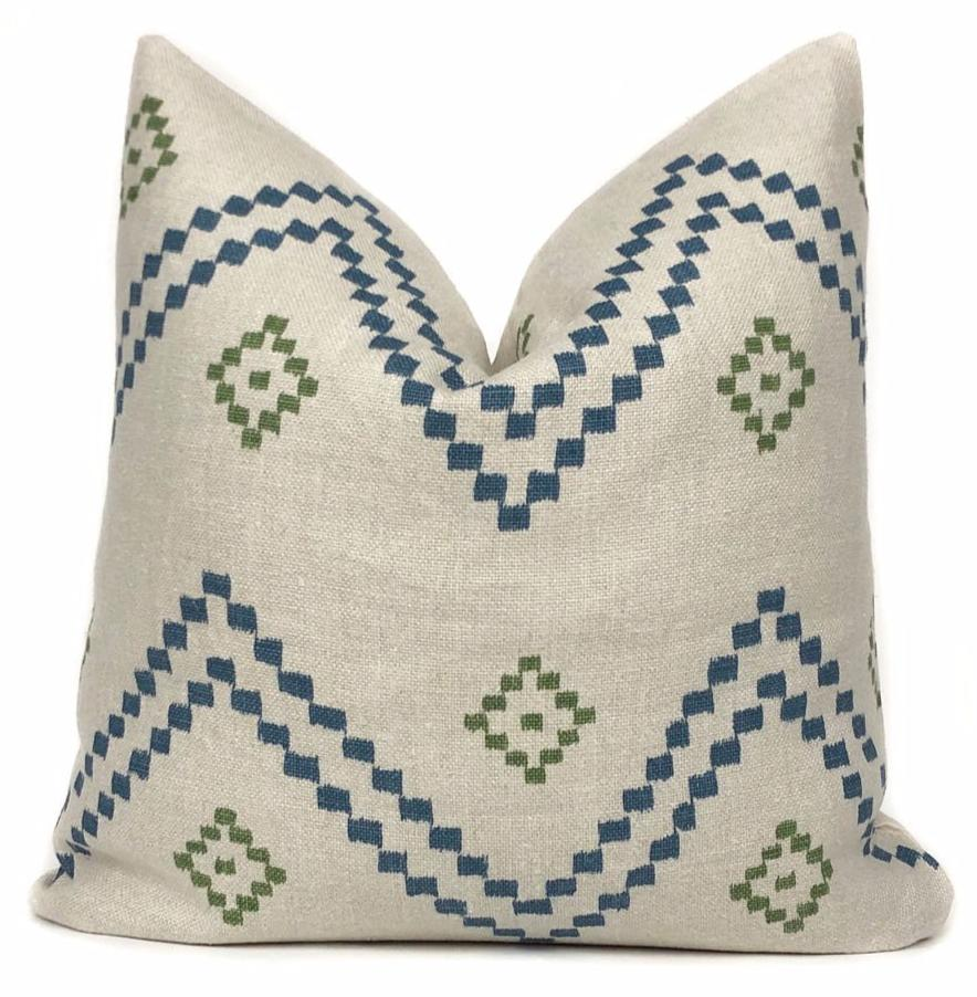 Peter Dunham Taj | Indigo Green | Designer Pillow Cover | No17
