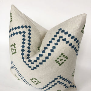 Taj | Indigo Green | Designer Pillow Cover | No17