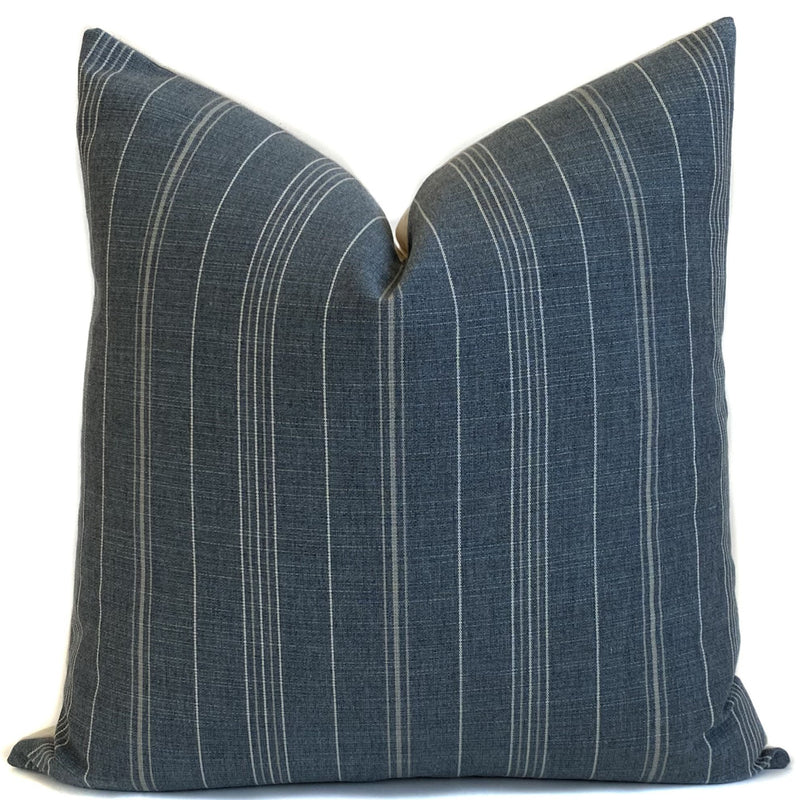 Sutton Stripe Designer Pillow Cover | Gunmetal