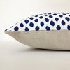Blue and White Block Print Decorative Pillow Cover | No9026