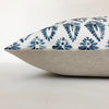 Blue and White Block Print Decorative Pillow Cover | No9029