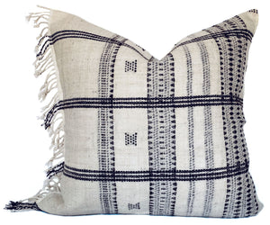 Indian Wool Pillow Cover | Fringe | NoIWFLC
