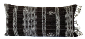 Indian Wool Pillow Cover | Brown + Cream | NoIWB1224