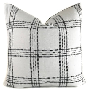 KUFRI Dundee Pillow Cover | Black And White Plaid Pillow