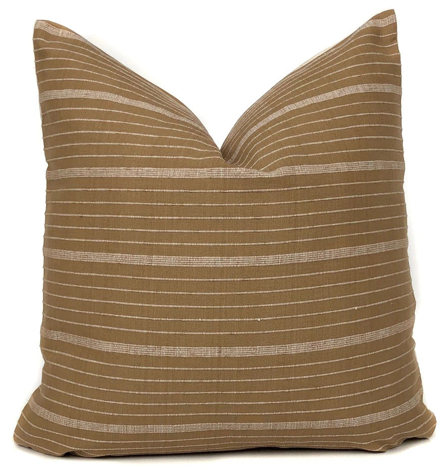 KUFRI Cusco Stripe Pillow Cover | Designer Pillow in Sand | No5