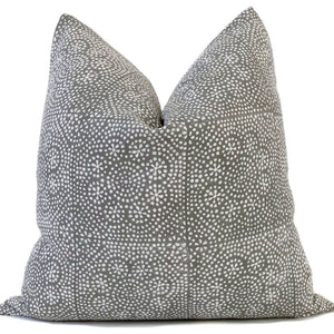 Luca Blanc Designer Pillow Cover with Floral Design and Natural linen Backing
