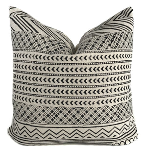 Maya 2 Pillow Cover | Black and Cream Geometric Pillow