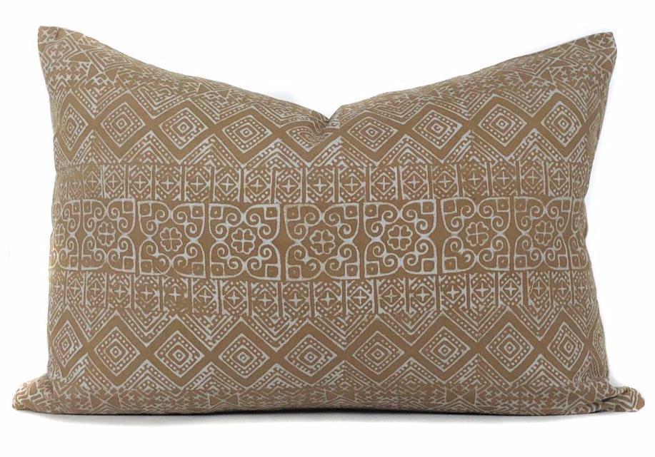 Mustard Batik Lumbar Pillow Cover | No4094